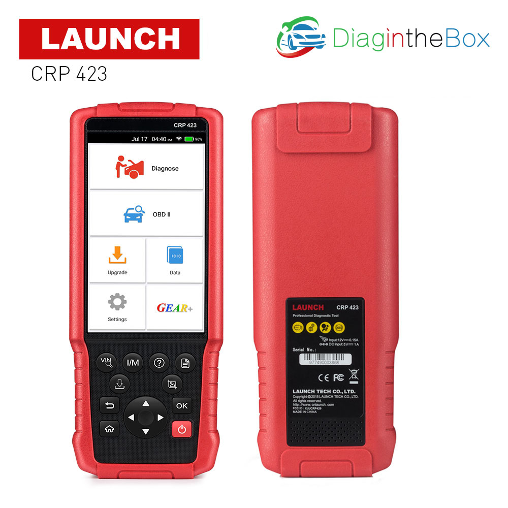 CRP423 LAUNCH obd2 code reader for Engine/ABS/Airbag/AT X431 CRP 423 Auto OBD 2 Diagnostic tool Multi language good than CRP123