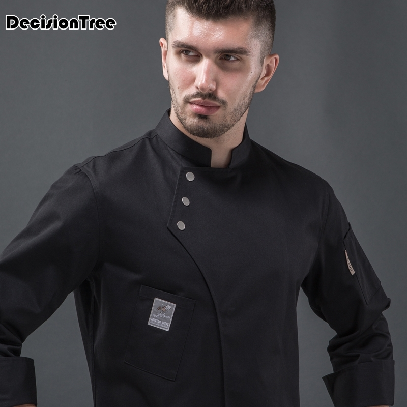 Chef Jacket Shirt Cook Workwear Kitchen Restaurant Double-Breasted Multiple-Colour Men