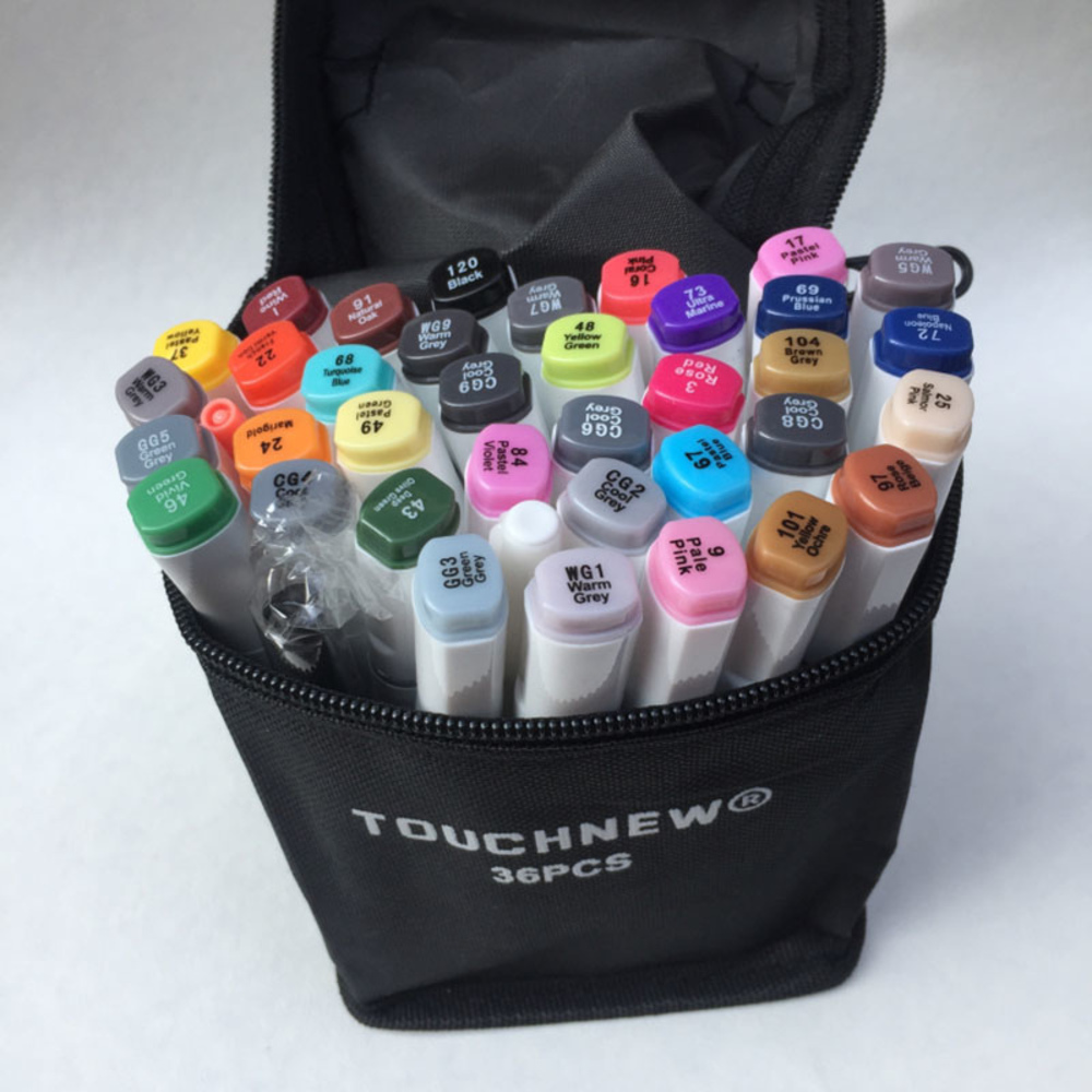 Free shipping six generation alcohol oily mark pen oil-based students hand-painted 30 36 40 color suits fine markers drawings