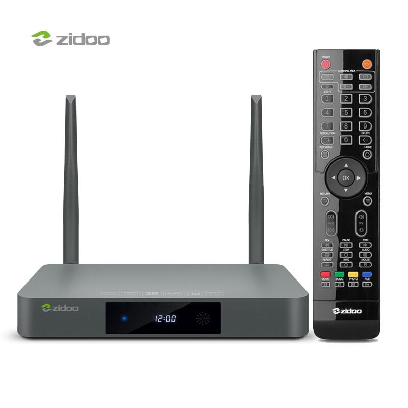 ZIDOO X9S Android TV Box 4 k Media Player HDR 10Bit Set Top Box UHD Intelligent tvbox Dual Band WIFI 2g DDR3 16 gb mem Android Top Box