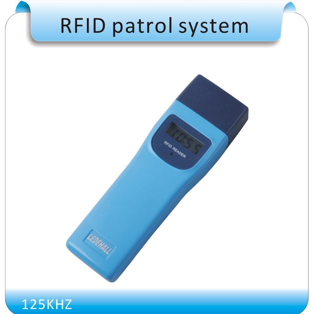 Frere shipping LDH-868 RFID 125KHZ model guard patrol system,Patrolling rod,USB port , +10pcs point button English software 10pcs sample 125khz rfid abs waterproof patrol button id patrol point