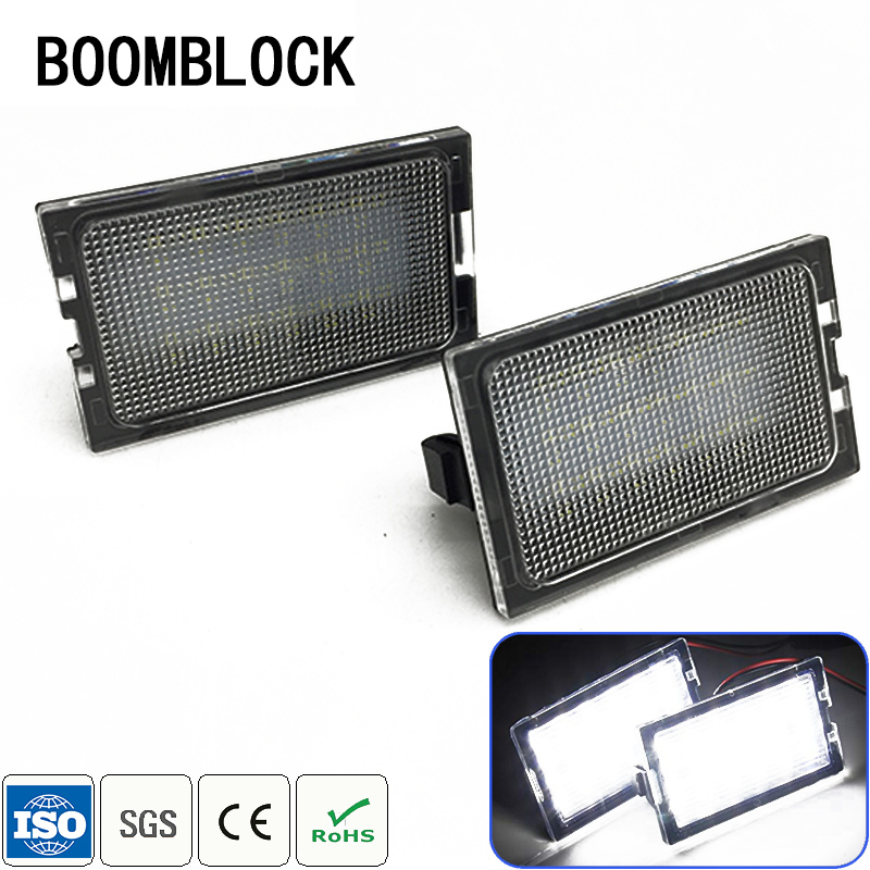 For Rang Rover Sport Land Rover Freelander 2 LR3 LR4 discovery 3 4 Car LED License Plate Lights 12V White LED Lamp Accessories