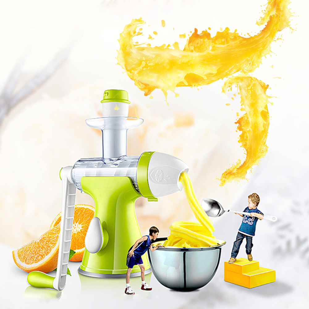 Manual Juicer Fruits Vegetables Extractor With Rotating Handle ABS Material Safe Healthy For Ice Cream Juice #4