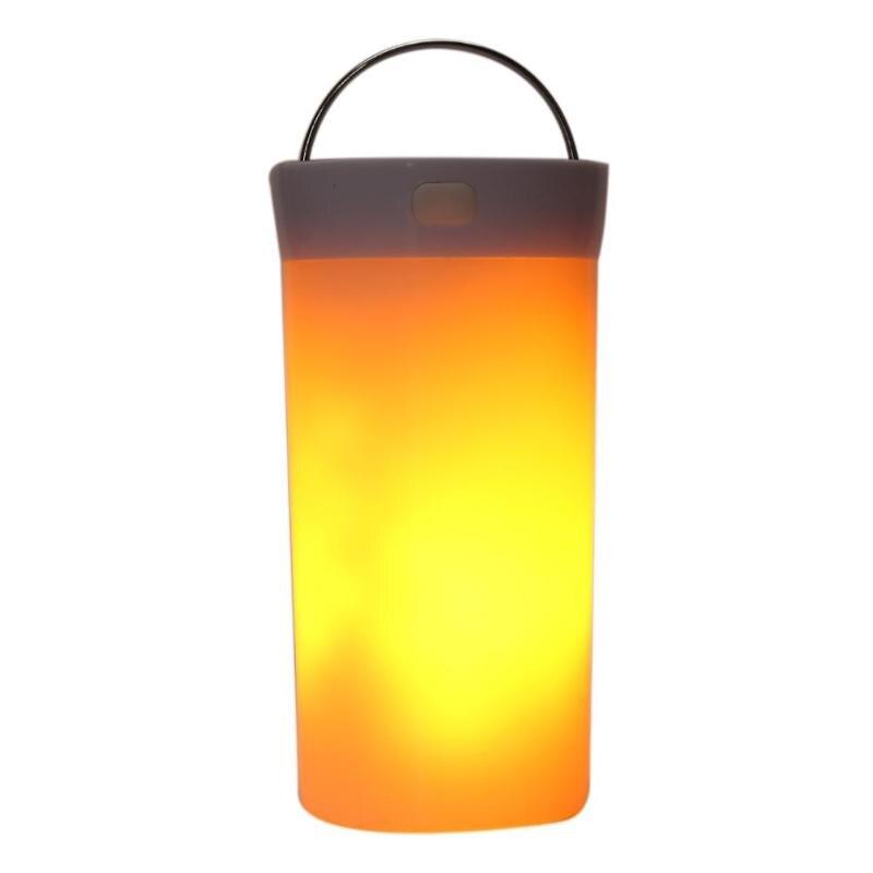 90 LED USB Şarj Edilebilir Alev Lambası Su Geçirmez Manyetik Yanıp Sönen Işık Bahçe Avlu Balkon Peyzaj Yanıp Sönen Işık