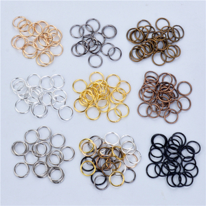 200pcs/lot 9Color Open Jump Ring 4 6 8 10 mm Silver Gold Rhodium Black Bronze Copper for DIY Jewelry Findings Connector