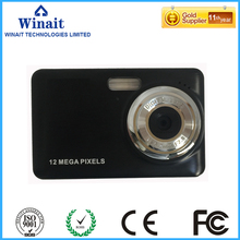 """free shipping 2.7"""" TFT display camera with 4x digital zoom, 12mp digital camera with 4GB sd card"""