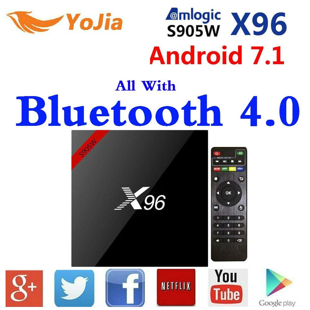 X96w Amlogic S905w Smart TV caja Android 7,1 4 k 1 GB/8 GB 2 GB/16 GB x96 TVBox X96w Bluetooth 4,0 opcional IR Cable cinta mágica