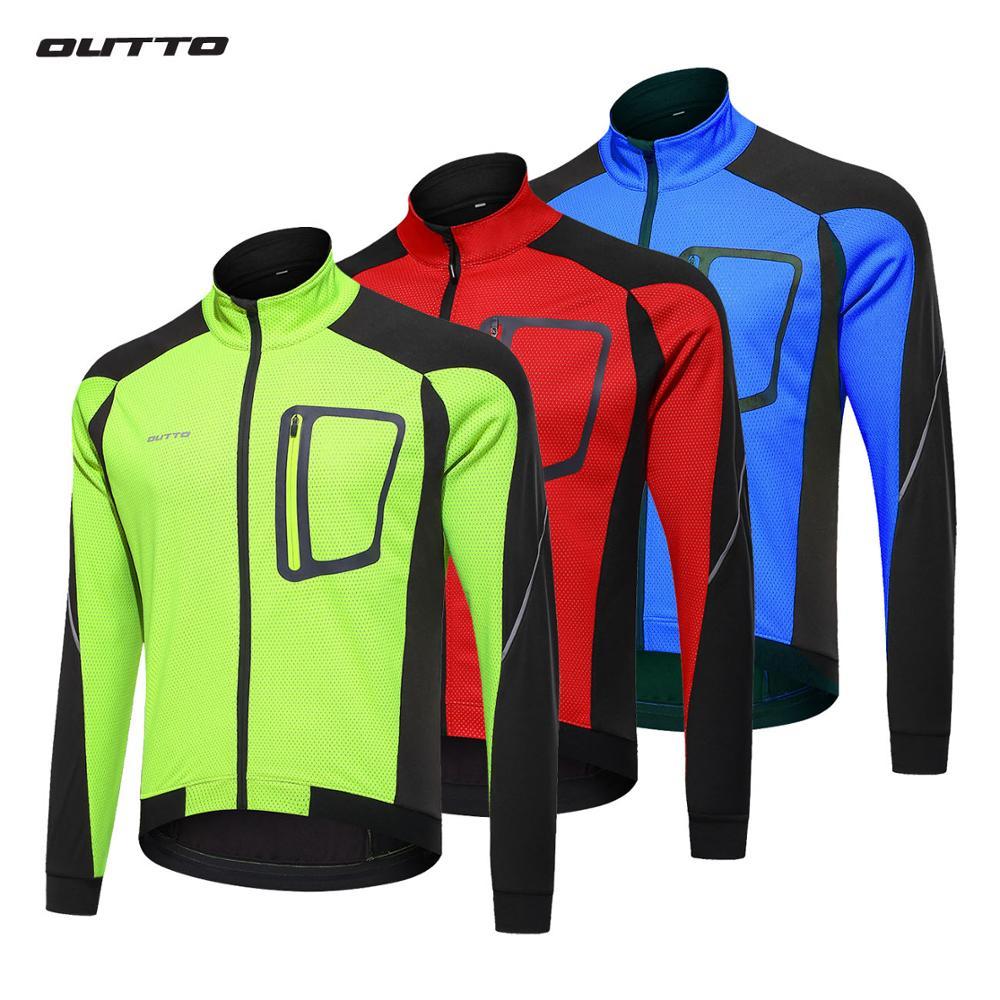 Outto Men s Windproof Waterproof Thermal Winter Cycling Jacket Long Sleeve Bicycle MTB Mountain Bike Windbreaker
