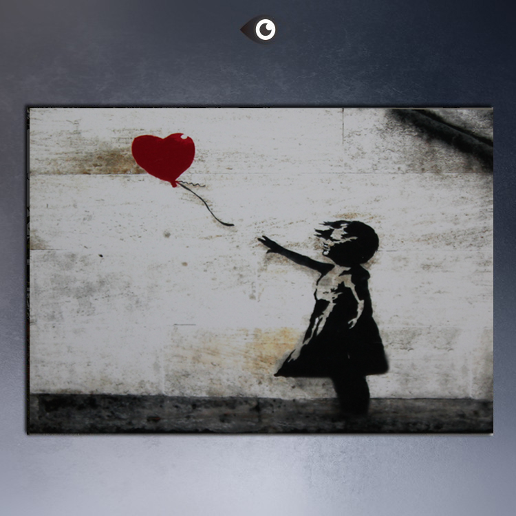 Canvas art paintings for sale famous graffiti arts banksy for Artwork on canvas for sale