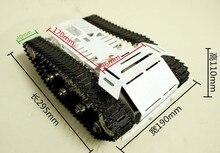 RC Metal Tank Car Chassis All Metal Tracked Vehicle Big Size Large Load Track Car Caterpillar Crawler Robot Arm Manipulator DIY