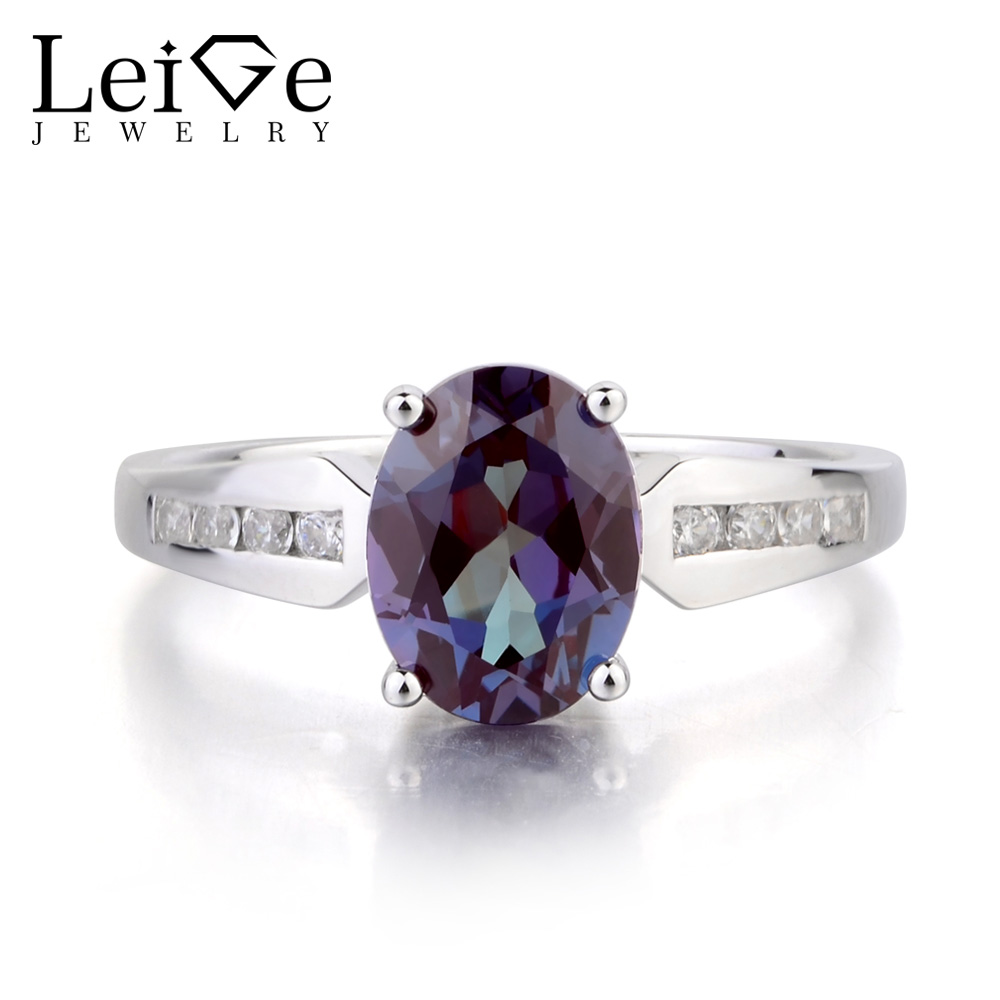 gold p modern product three ring stone russian alexandrite engagement rings solitaire wedding diamond white cz