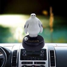 ФОТО car dashboard doll ornaments abs material creative solar new car cartoon baymax shaking head gift decoration accessories