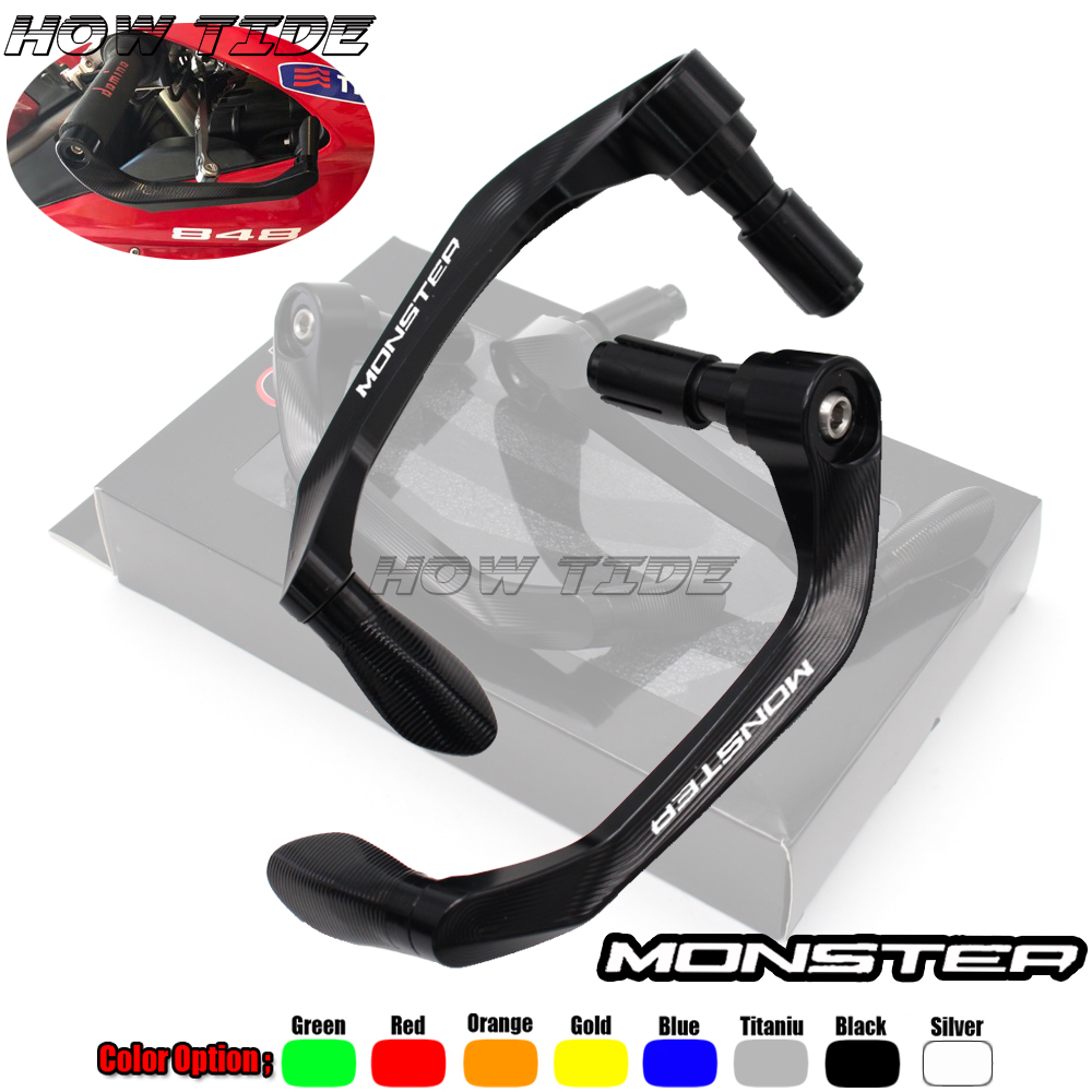 Universal 7/8 22mm Motorcycle Handlebar Brake Clutch Levers Protector Guard For Ducati Monster 1200 797 796 821 696 S2R 800Universal 7/8 22mm Motorcycle Handlebar Brake Clutch Levers Protector Guard For Ducati Monster 1200 797 796 821 696 S2R 800