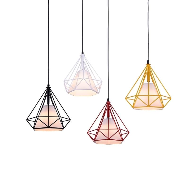 GZMJ Minimalist Retro Light Hanging Lamp E27 Retro Indoor Lighting Vintage Birdcage Pendant Lights Modern Iron|Pendant Lights| |  - title=
