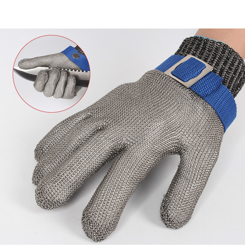 1 PC Anti-cutting Safety Stab Resistant Work Gloves Stainless Steel Wire Safety Gloves Cut Metal Mesh Butcher Cut Work Gloves