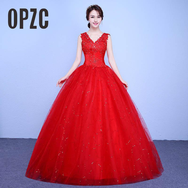 Real Photo Simple Fashion Grils Wedding Dress 2017 New