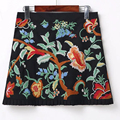 2017 double-sided heavy industry embroidery lotus leaf Slim was thin wild A word skirt
