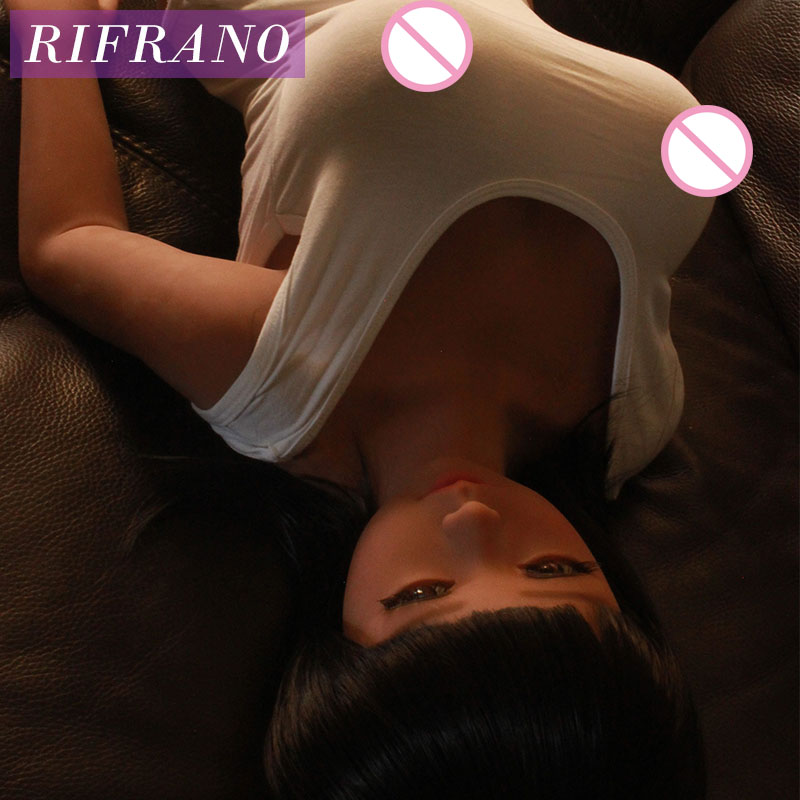 Rifrano 100cm cheap real silicone sex dolls skeleton big breast ass tan skin Japanese love dolls for man for anal oral sex(China (Mainland))