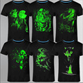 2016 Nova 3D t-shirt dos homens de Lazer Fluorescente Personalizado Curto-luva Luminosa Camiseta Topos de Verão Dos Homens T-shirt roupas leves