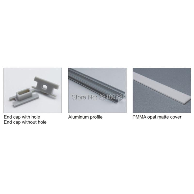 10 կոմպլեկտ / Lot H Shape Anodized Silver Silver- ի LED - LED լուսավորություն - Լուսանկար 2