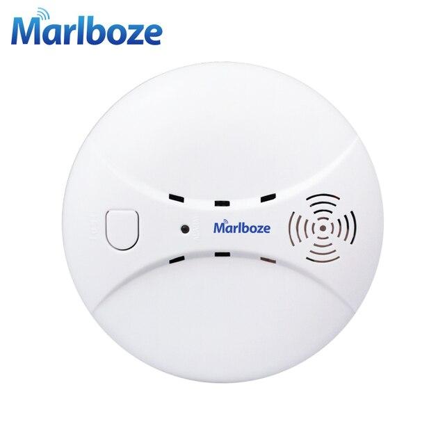 Détecteur de fumée photoélectrique détecteur de fumée sans fil 433 mhz Marlboze pour système d'alarme sans fil WIFI GSM de sécurité à la maison