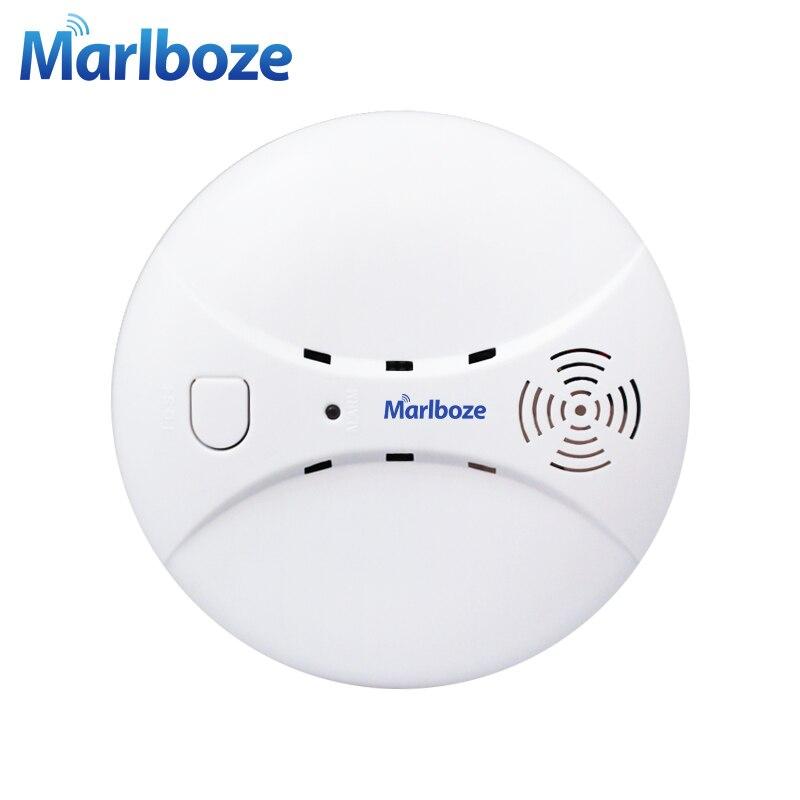 Marlboze Rivelatore di Fumo Fotoelettrico Senza Fili 433 mhz Smog Fuoco Sensore per Sicurezza Domestica Senza Fili WIFI GSM Sistema di Allarme