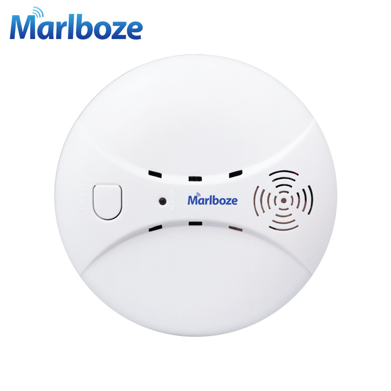 Marlboze Wireless 433mhz Smog Detector Photoelectric Smoke Fire Sensor for Wireless Home Security WIFI GSM Alarm System wireless vibration break breakage glass sensor detector 433mhz for alarm system