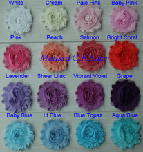 "Free USA ePacket/CPAP 20y 67 colors 2.5"" chic shabby frayed chiffon rose trim for girls hair accessories headovers hat shoes etc"