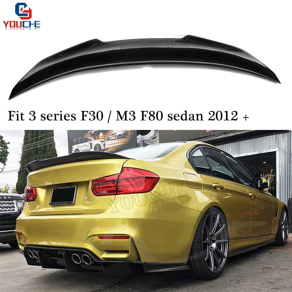 F30 Carbon Fiber Rear Spoiler Wing For BMW M3 F80 3 Series 4 door Sedan 2012