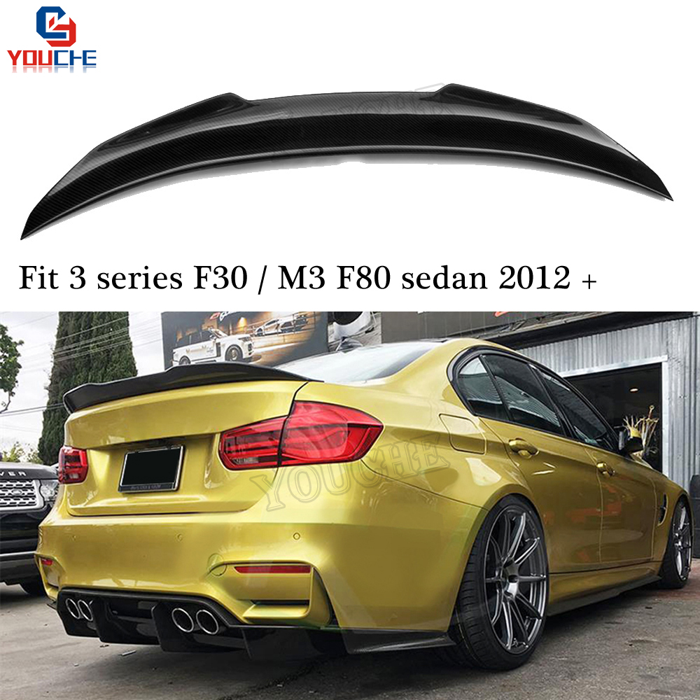 F30 Carbon Fiber Rear Spoiler Wing For BMW M3 F80 3 Series