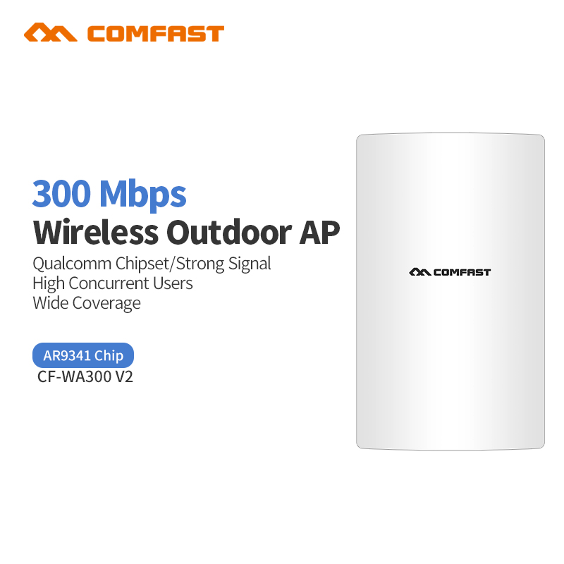 COMFAST WA300V2 300Mbps 2.4G Wireless outdoor Ap router Access Point Repeater Wifi Base Cover openwrt 48V Poe WIFI Bridge CPE