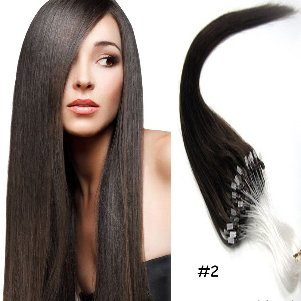 18 22loops Micro Rings Beads Tipped Remy Human Hair Extensions 1g