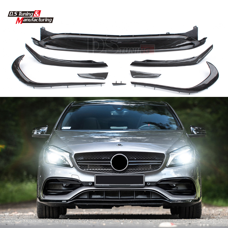 Mercedes W176 ABS Front Bumper Lip Canards 8 pieces/set A45 New Style for Mercedes A Class W176