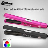 Home Hold Professional Hair Straightener Hair Flat Iron Straightening Ceramic Tourmaline Curling Iron With Diamond Free