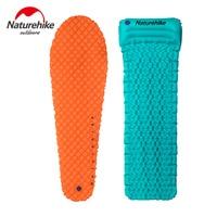 Naturehike Factory Sell Outdoor Camping Inflatable Tent Mat With Pillow Lightweight Air Mattress 460g Utralight Camping