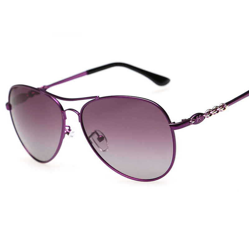 High quality font b fashion b font metal sun glasses 2394 driving glasses ms gradient lens
