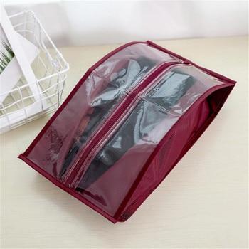 219a42394 Simple zapato impermeable bolso transparente de la bolsa de almacenamiento  de bolsa de tela Oxford polvo cubierta de zapatos Unisex zapatos de viaje  ...