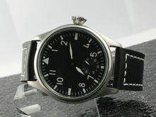 Pilot watch Sea Gull Hand Winding Mechanical White Luminous Number and Hands Men s Wristwatches free
