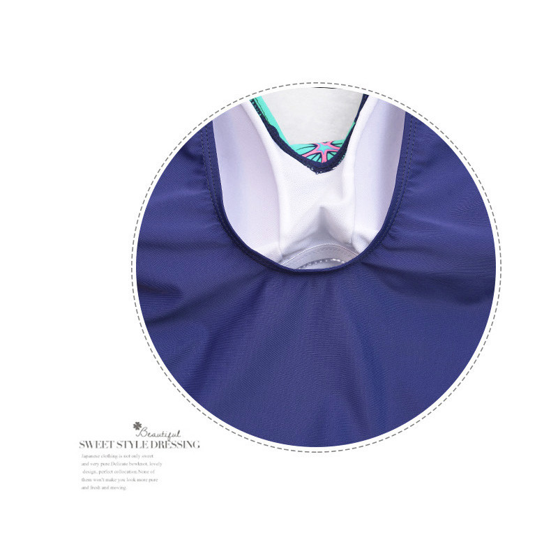 Latest ! Vintage Pad Swimwear Women Retro Plus Size One Piece Swimsuit Dress 4XL Floral Dot Backless Soft Bathing Suit F1692 24