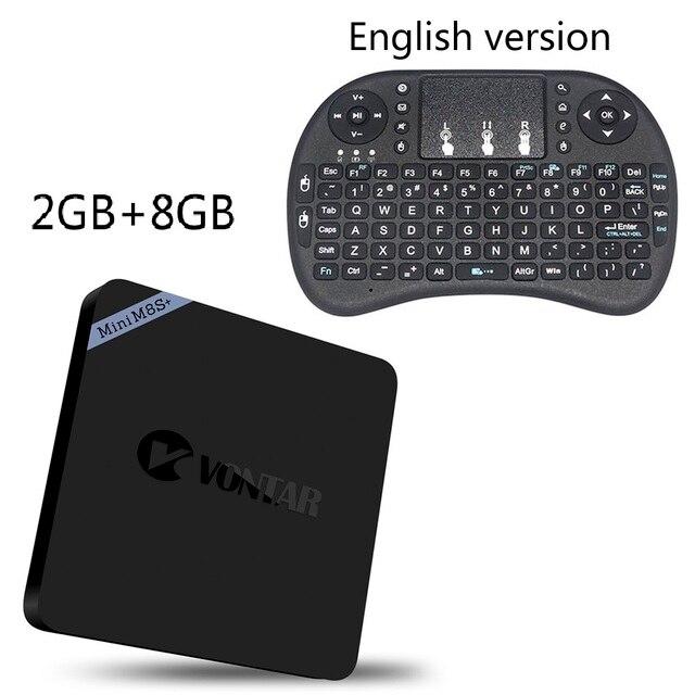 VONTAR Mini M8S Plus Amlogic S905X 2GB 8GB 16GB TV BOX Android 6.0 2.4G WiFi Bluetooth 4K Top Box PK Mini M8s ii better than X96