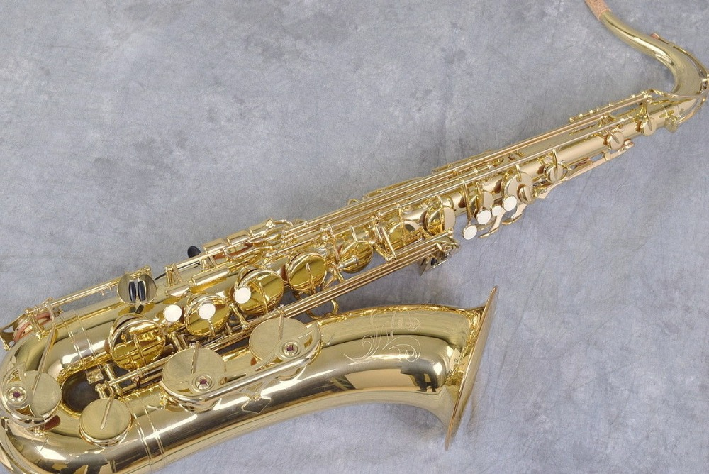 New Sale Tenor Saxophones YTS 475 Bb Sax Instruments With Case Gold Lacquer with Case, Mouthpiece jazzor jbfh 600 4 key single french horn entry model bb f wind instruments french horns with mouthpiece free shipping
