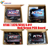 Best Quality 4Type Red PCB Board KESS V2 V5.017 OBD2 Manager Tuning Kit KTAG 7.020 2.25 No Tokens Limited Master Version