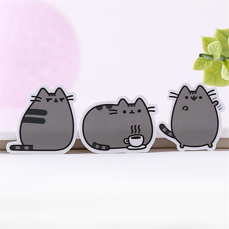 40 pcs Fat cat expression homemade Sticker for Kid DIY Laptop Waterproof Skateboard Moto phone Car Toy Scrapbooking Stickers(China)