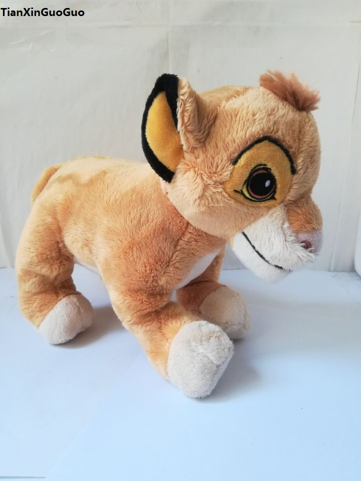about 24x20cm standing lion king Simba cartoon lion plush toy soft doll Christmas gift w0778