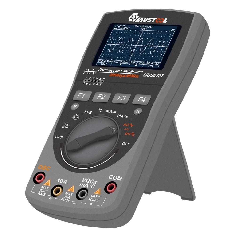 MUSTOOL más nuevo MDS8207 2in1 multímetro de almacenamiento Digital inteligente One Key AUTO Oscilloscop Tester con Grap analógica - 4