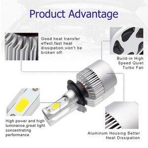Image 3 - Safego 2pcs H7 H8 H9 H11 9005 HB3 9006 HB4 COB LED רכב פנס נורות Hi Lo קרן אוטומטי ערפל אור מנורת 8000LM 6500K 12v 24v