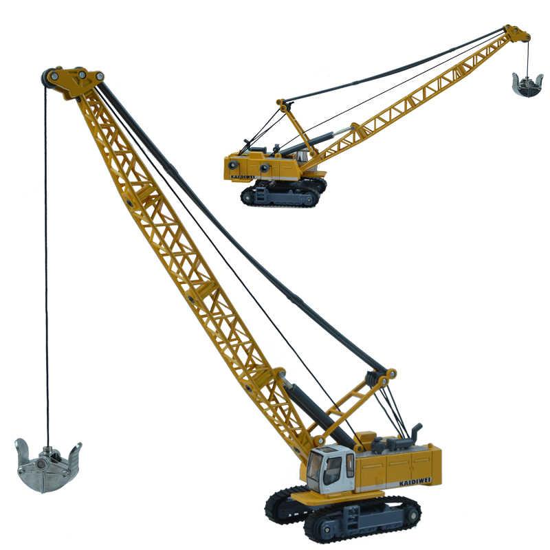 Paduan model mobil rekayasa menggali mesin tower mobil pertambangan kabel derek mainan anak hadiah Hari