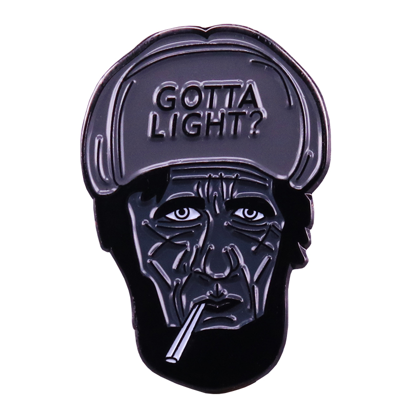 Twin peaks pin gotta light? woodsman brooch David Lynch movie jewelry image