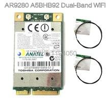Atheros AR9280 AR5BHB92 двухдиапазонный 2,4 ГГц/5 ГГц 802.11a/B/G/N 300Mbp Беспроводной Wi-Fi mini-pci-e модуль карты WiFi