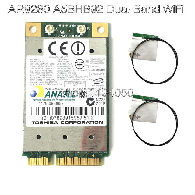 US $2 99 |Atheros AR9280 AR5BHB92 dual band 2 4GHz / 5GHz 802 11a / B / G /  N 300Mbp wireless wi fi mini pci e card module WiFi-in Network Cards from